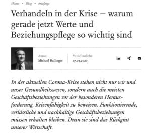 Screenshot des Beitrags von Matthias Horx